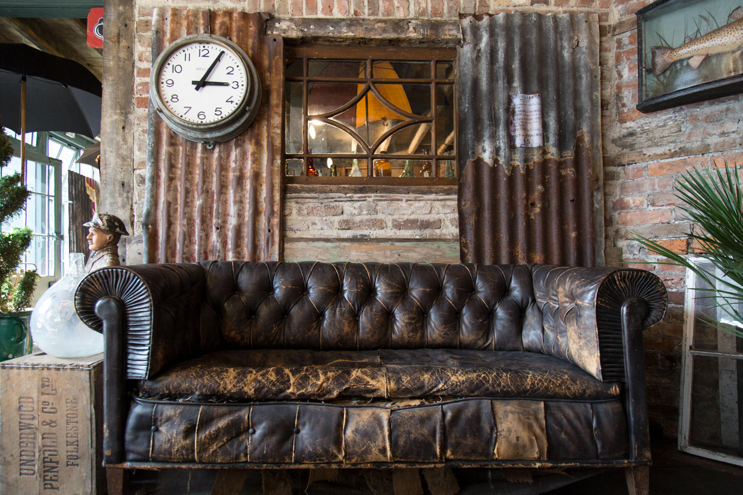 19th Century Leather Chesterfield Sofa