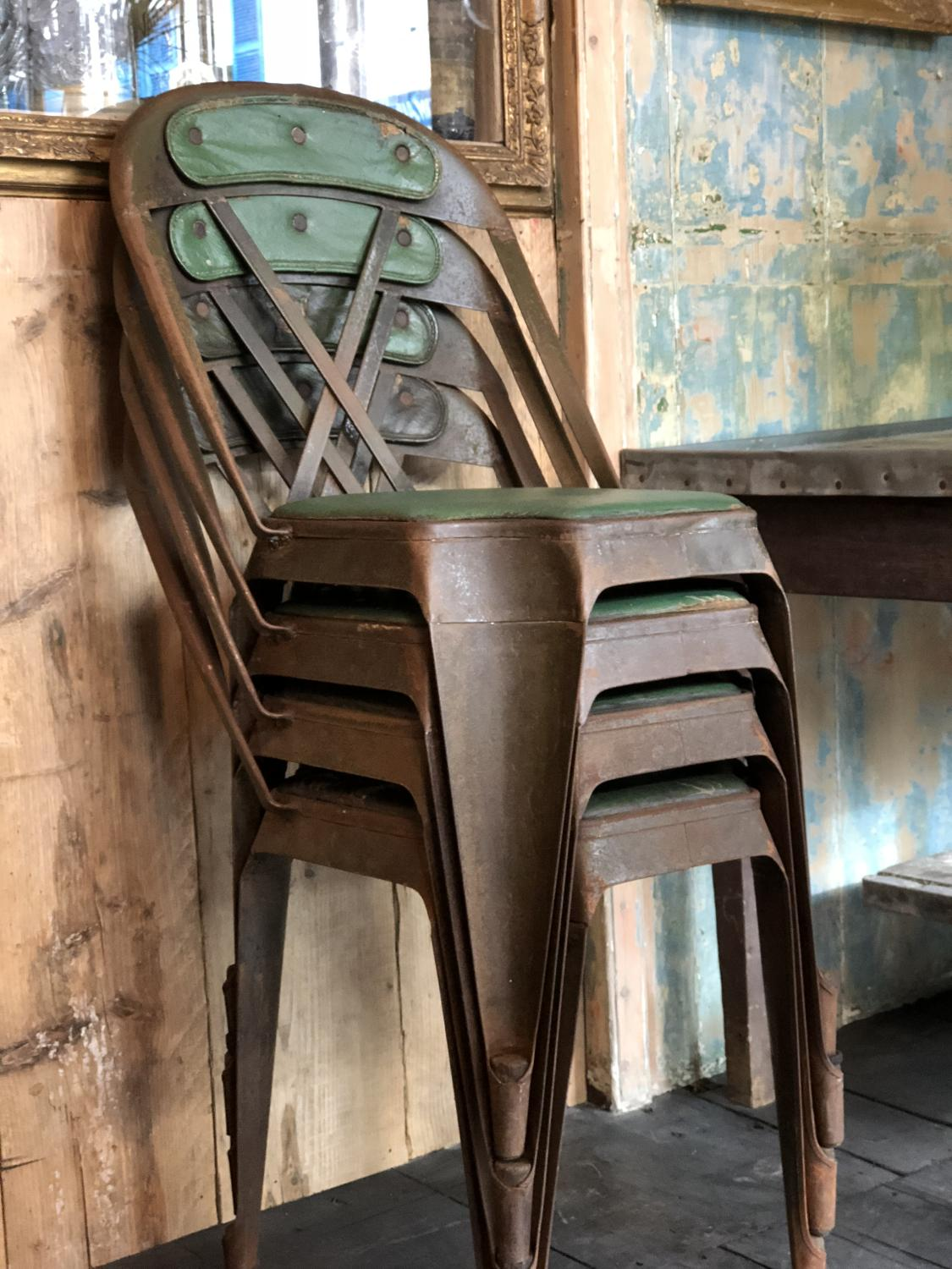 Evertaut steel chairs - set of four