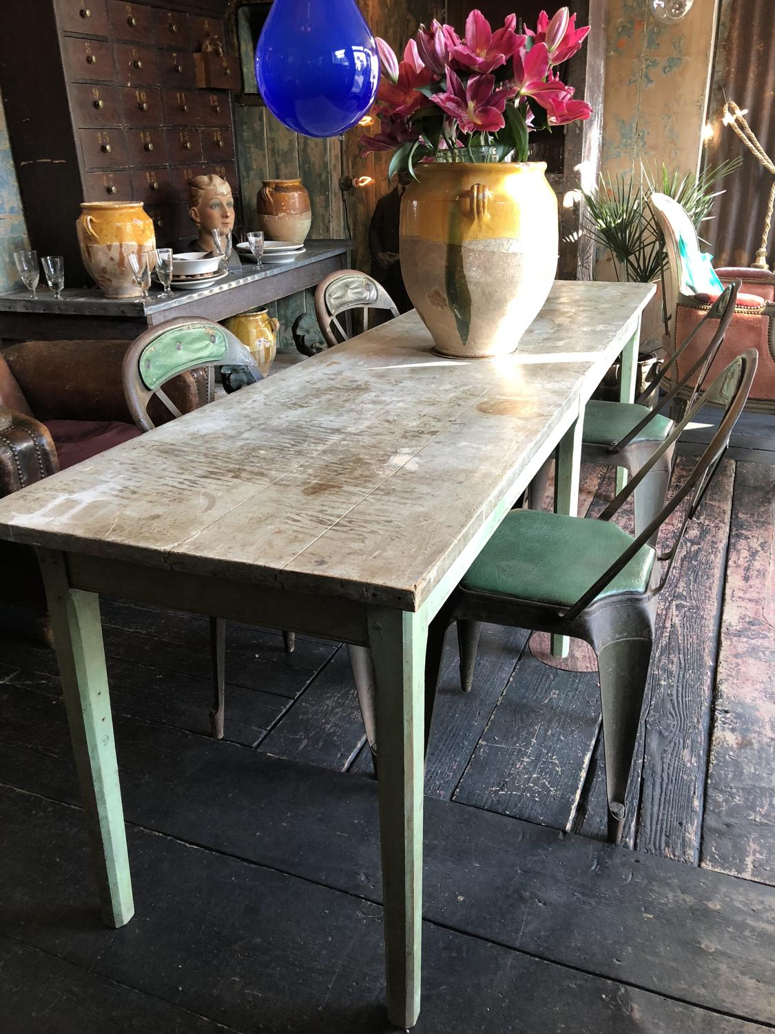 19th Century French Candlemakers Studio Table