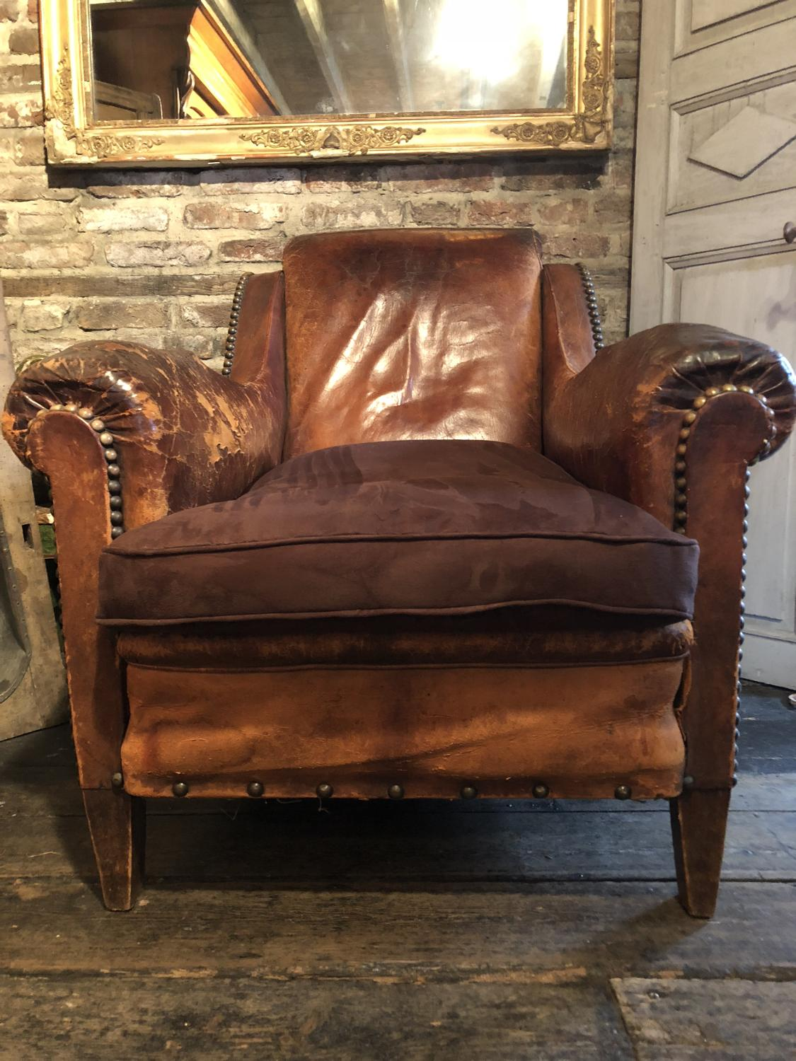 Late 19th c Country House Gentlemen's Club Chair