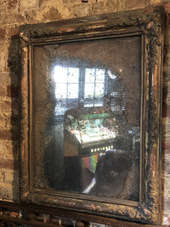 Wonderfully weathered Mid 19th C Mercury Mirror