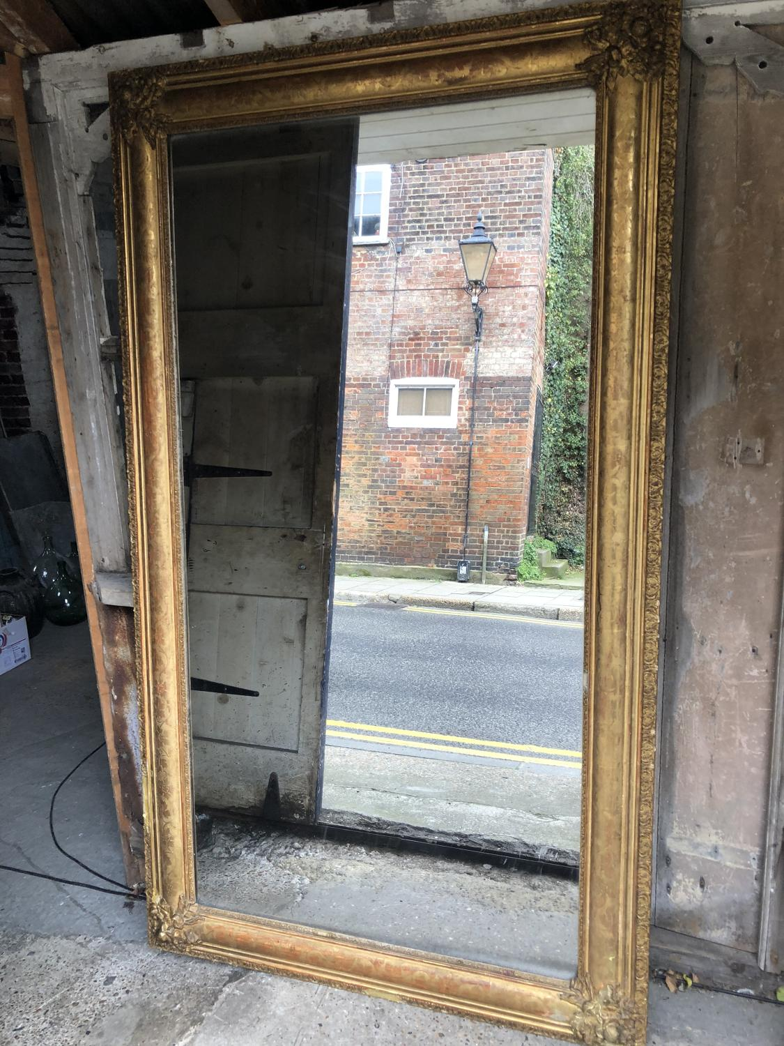 Original mercury plated mirror - early signs of weathering